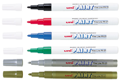 Fine point uni paint markers for Uni paint marker